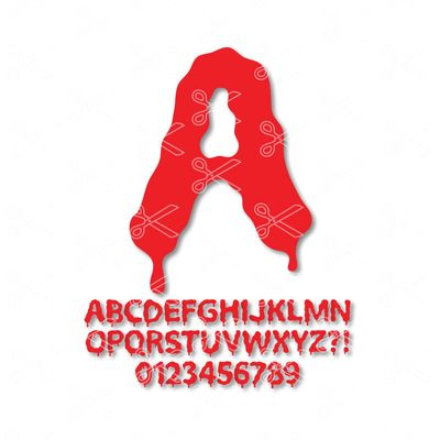 Blood Alphabet Letters SVG DXF Graffiti alphabet
