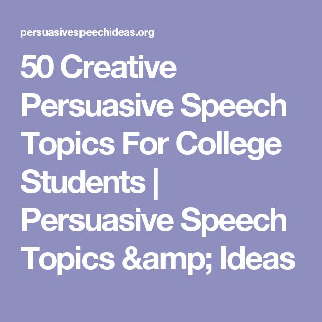 speech topics for college