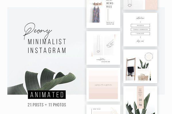 ANIMATED Instagram Posts  Peony ANIMATED Instagram Posts  Peony by AgataCreate on creativemarket