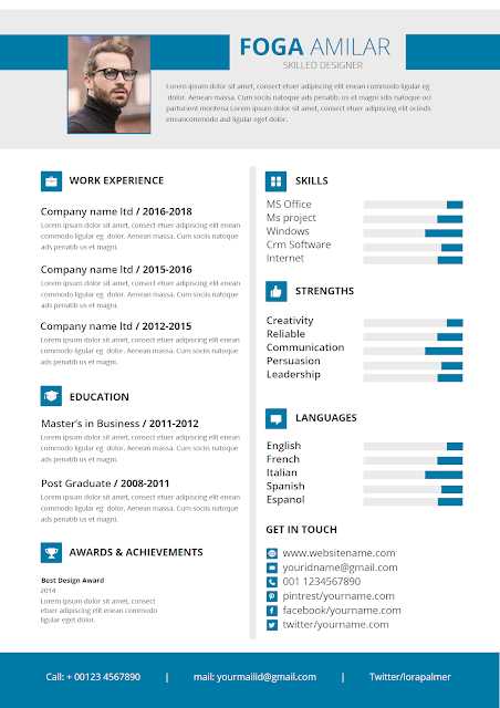 Best Project Manager Resume Resume Template Word Infographic Resume Infographic Resume Template