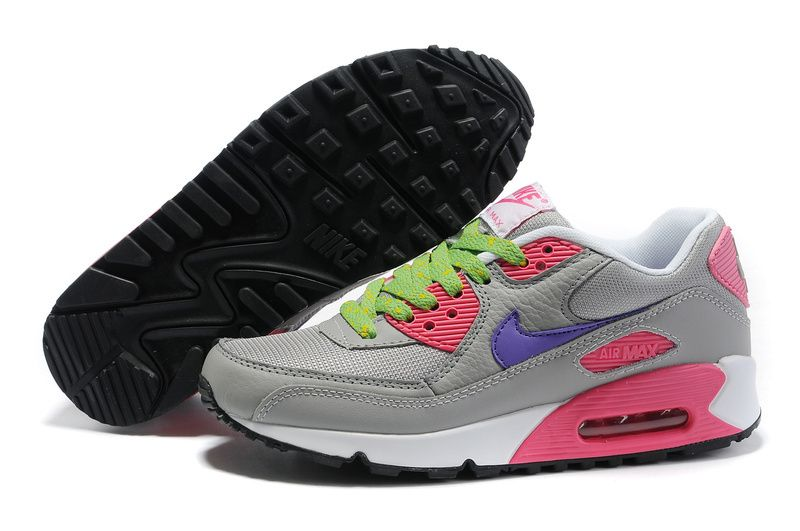 new styles 03036 9a184 Womens Nike Air Max 90 Hyperfuse Grey Pink Purple Shoes