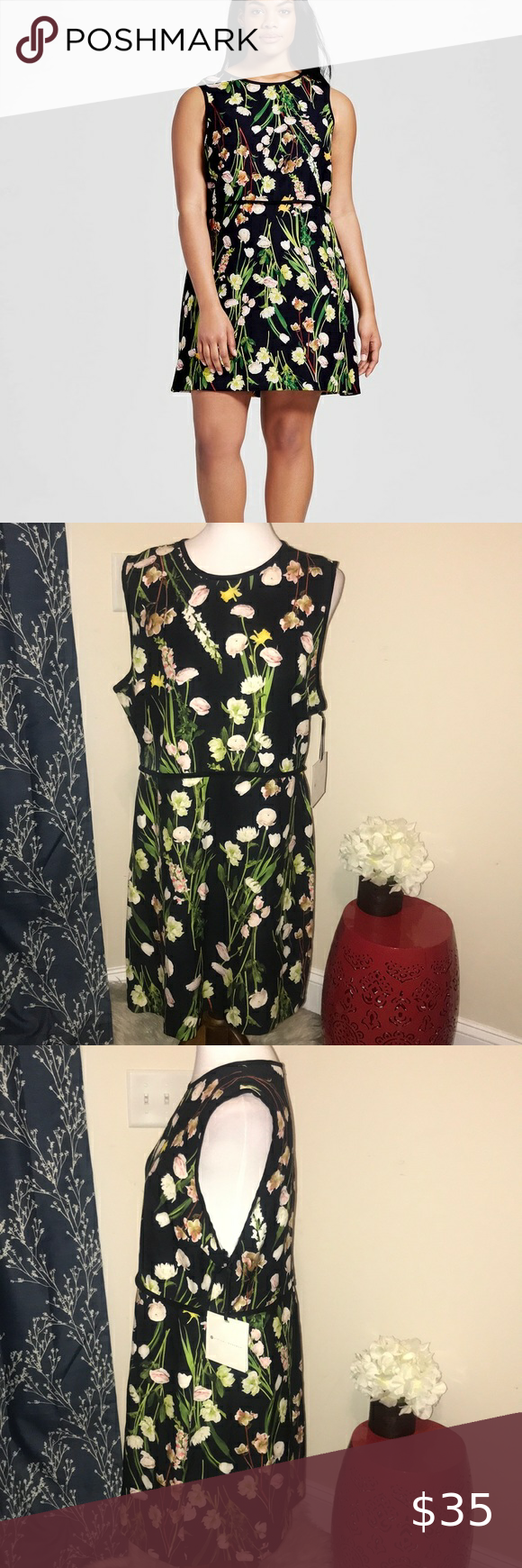 New Victoria Beckham Black English Floral Dress New With Tags Victoria Beckham For Target Plus Black English Flora Floral Dress Clothes Design Target Dresses [ 1740 x 580 Pixel ]
