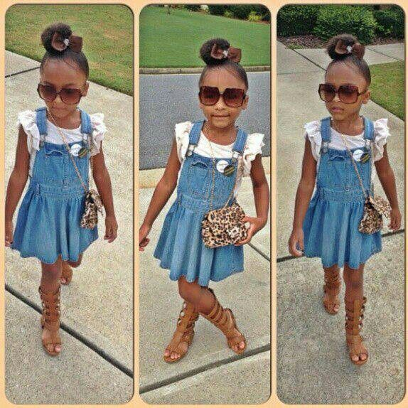 Stylish Cute Black Girl With Images Girl Outfits Little Girl