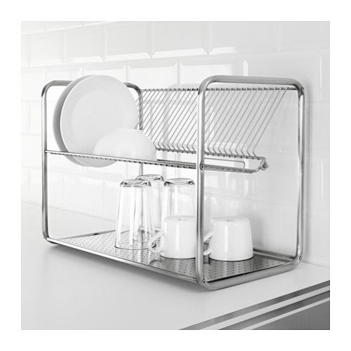 Ordning Dish Drainer Stainless Steel Ikea Dish Drainers Dish Rack Drying Dish Organization