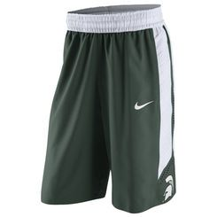 Michigan State Spartans Nike Authentic On-Court Performance Basketball  Shorts - Green