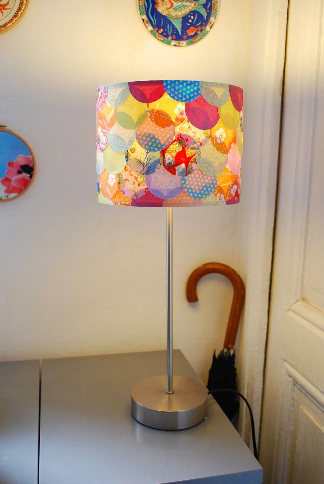 les bricoles de mademoiselle fleur how to 39 s customiser un abat jour abat jour. Black Bedroom Furniture Sets. Home Design Ideas