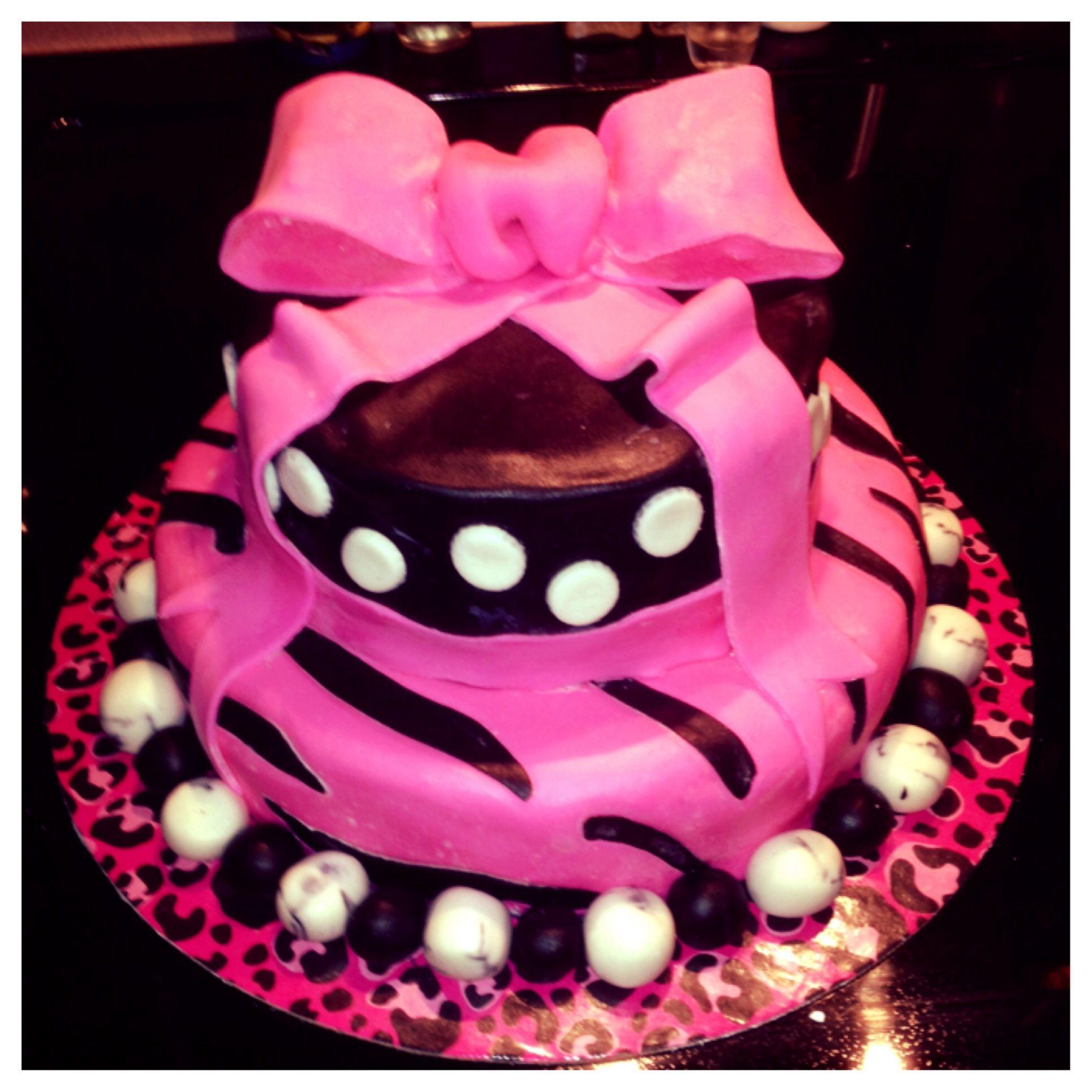 Tween Birthday Cake With Marshmellow Fondant