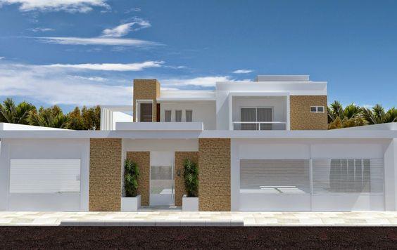 Casa de un solo piso presentamos una fachada que combina for Que significa estilo minimalista
