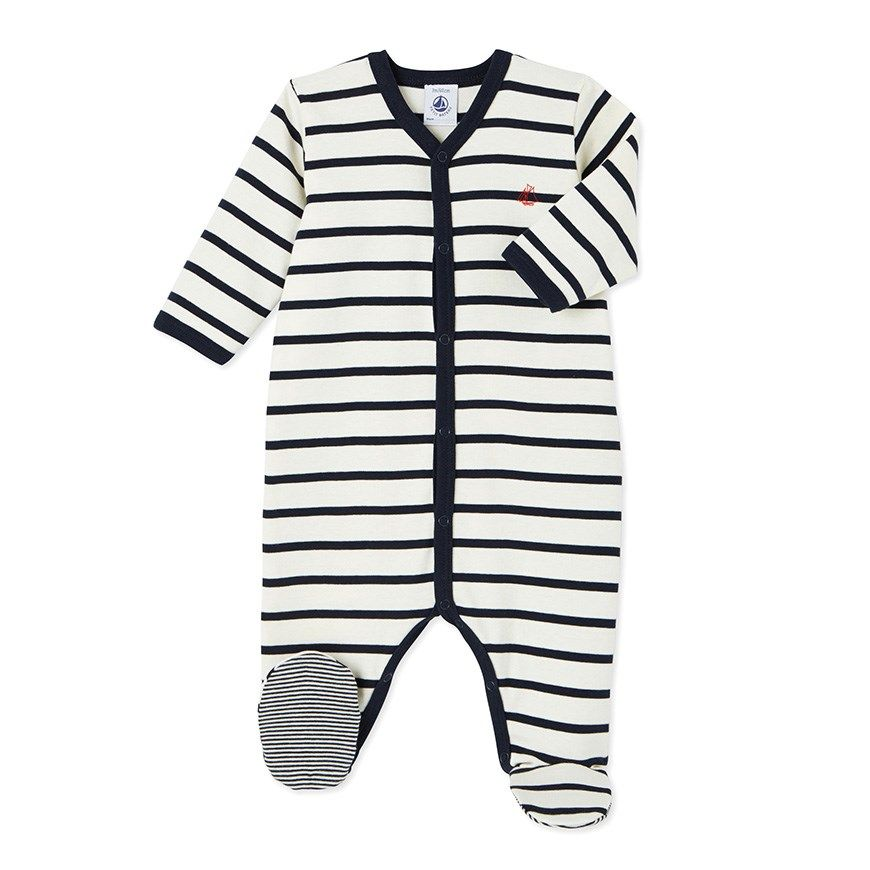 Unisex baby's striped sleeper
