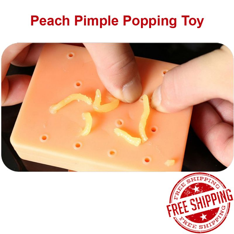 Peach Pimple Popping Funny Stress Reliever Toy Popper Remover Stop Squeeze Toy