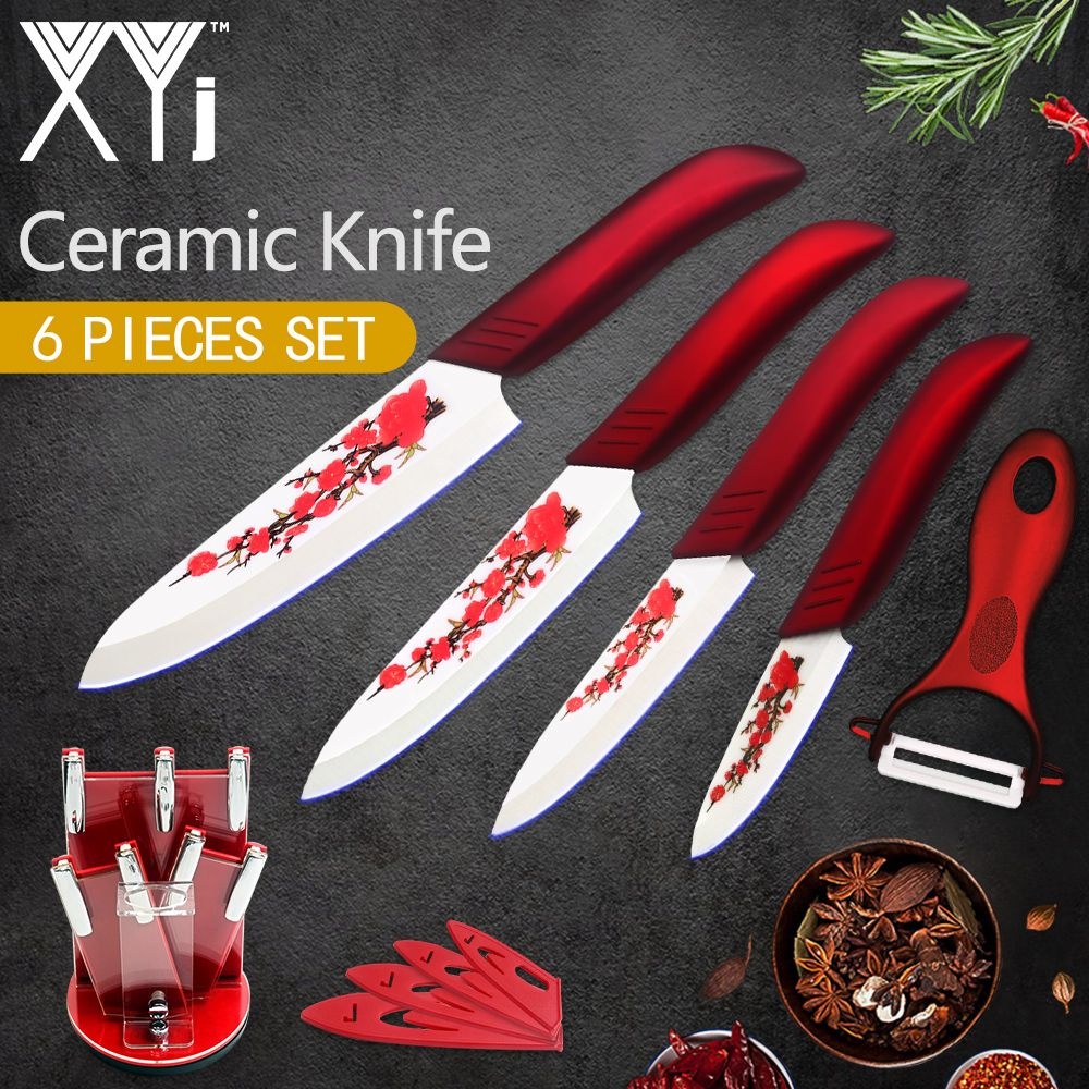 Xyj Kitchen Ceramic Knife Cooking Tools Set 3 4 5 6 Inch Peeler
