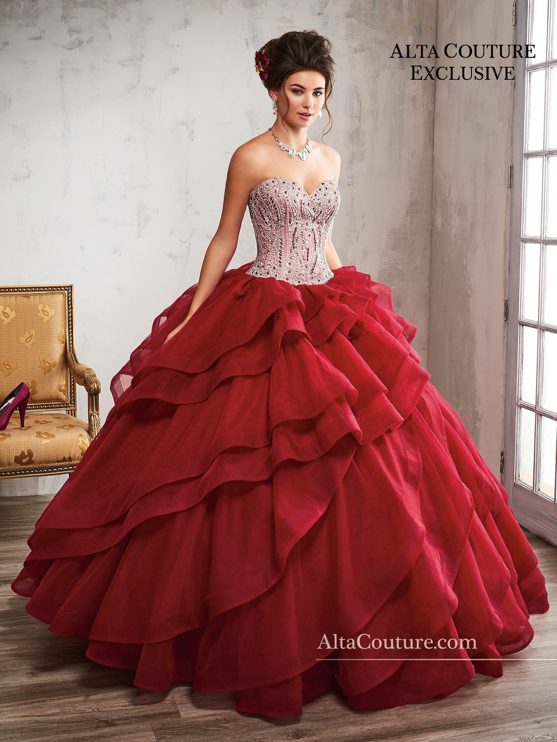 Ruffled Quinceanera Dress by Mary\'s Bridal Alta Couture 4T192 ...