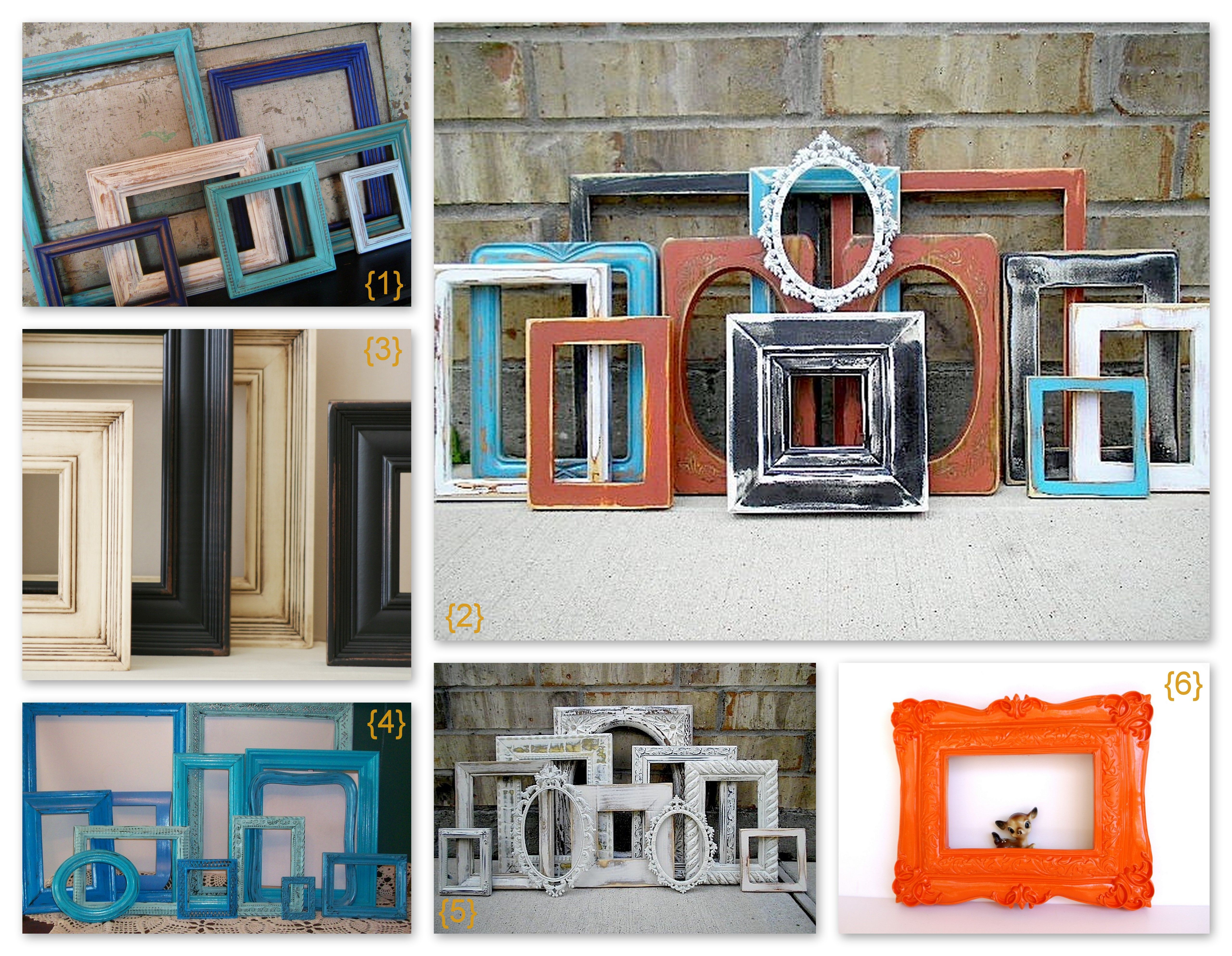 Old Picture Frames Decorating Ideas | Here are some empty vintage ...