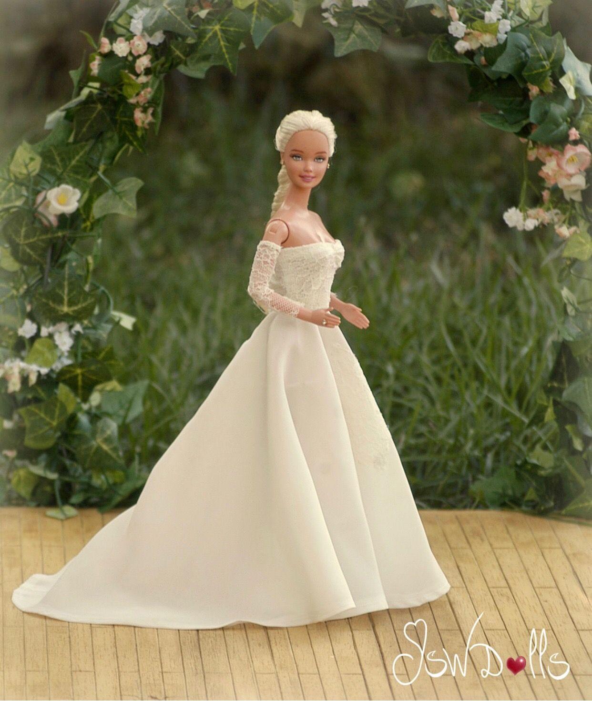19..19/Jswdolls  Barbie wedding dress, Barbie bride, Bridal dresses