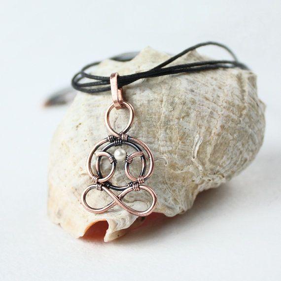 YOGA necklace  Infinity necklace  Wire jewelry by wirefoxjewellery, $29.00