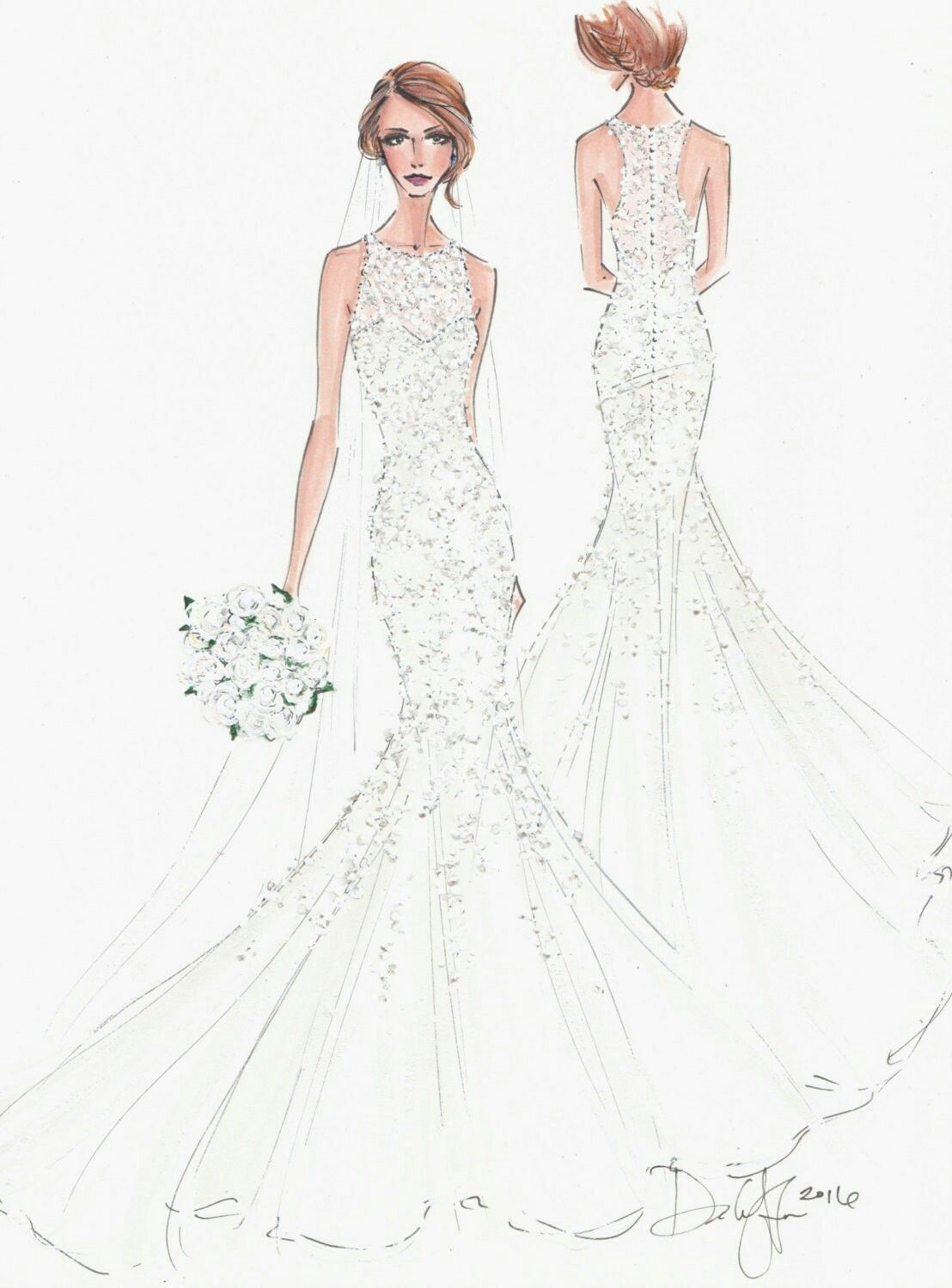 Pin by muedeh on wedding dress | Pinterest | Fashion sketches ...