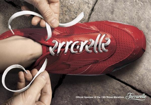 SHOE - Rome Marathon Sponsorship Print Ad