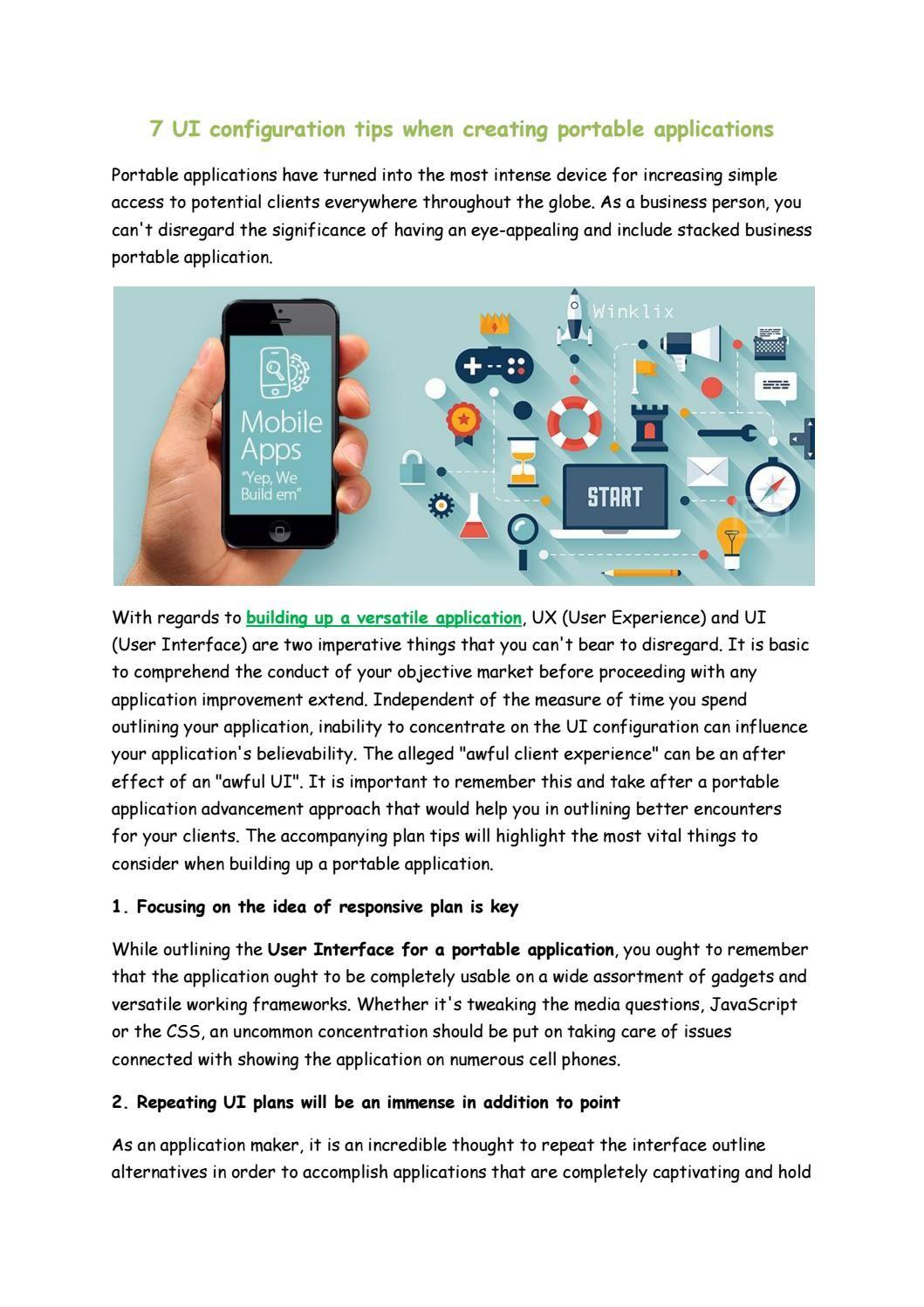 1d854e365 7 ui configuration tips when creating portable application | Winklix ...