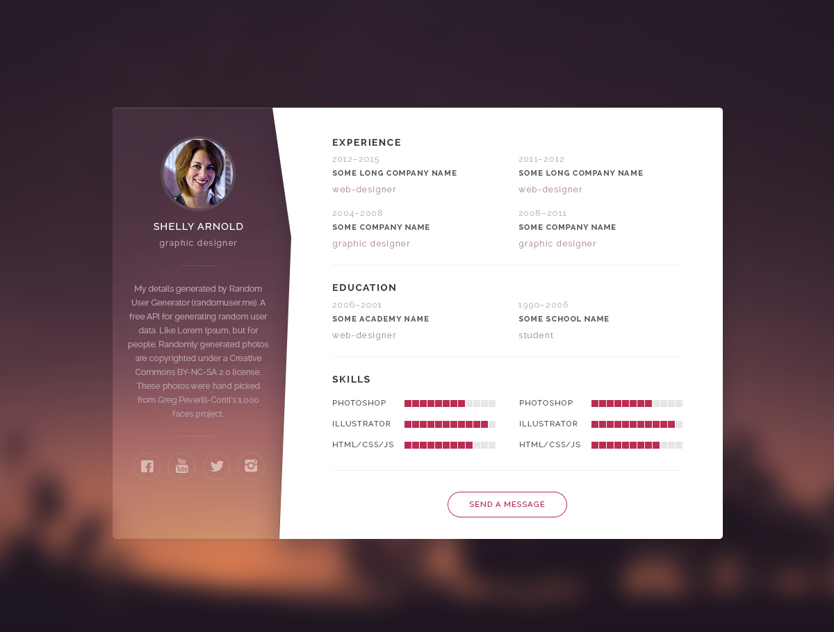 Download Free ResumeCv Psd Template  Personal Branding