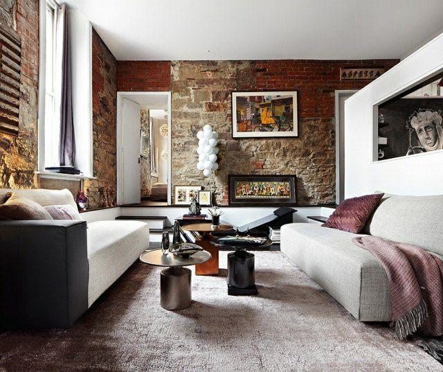 Ziegelwand (deavita) Wohnstil - Allgemein Pinterest - wohnzimmer ideen mit steintapete