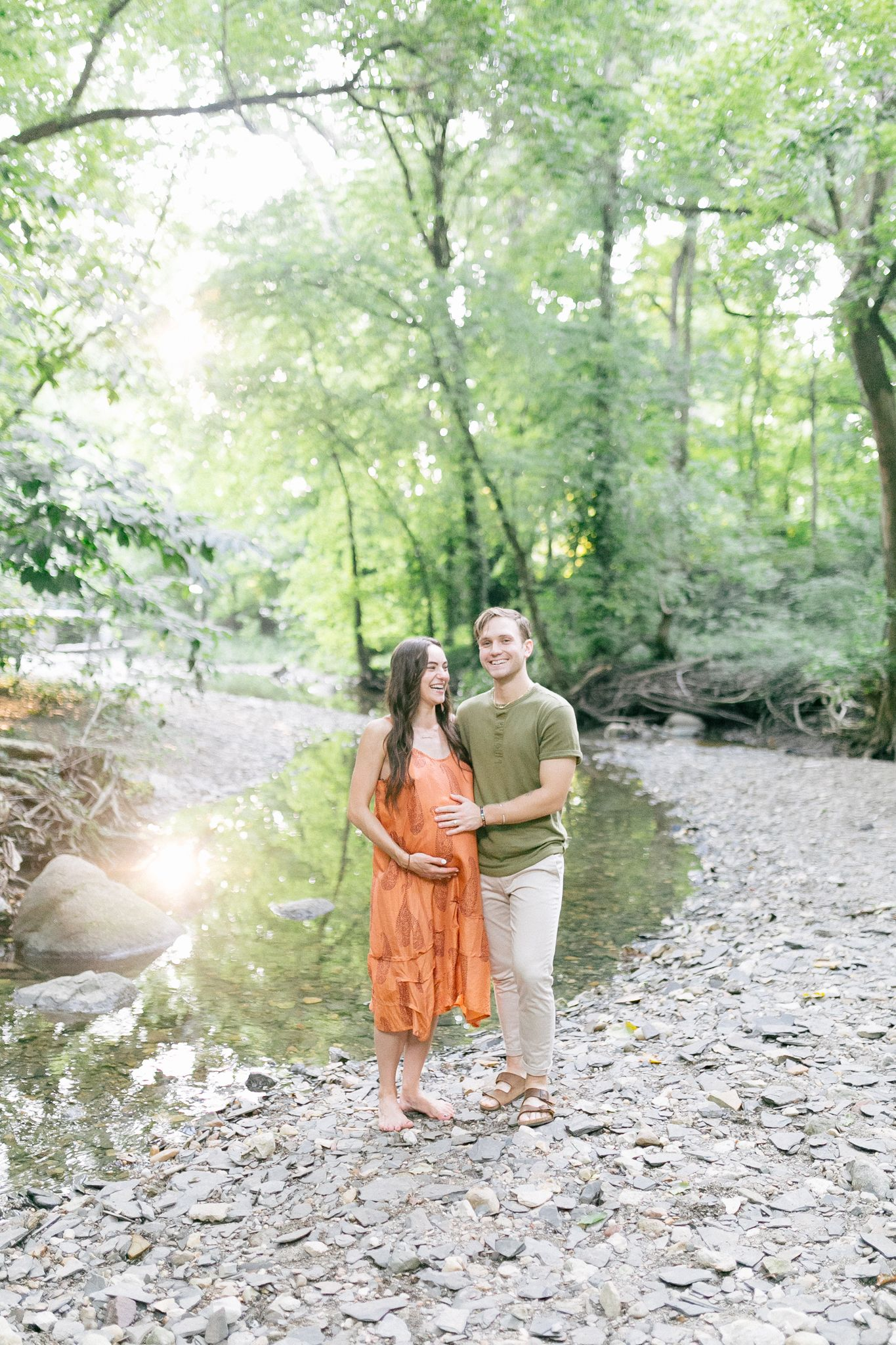 Maternity session in clintonville oh whetstone park of