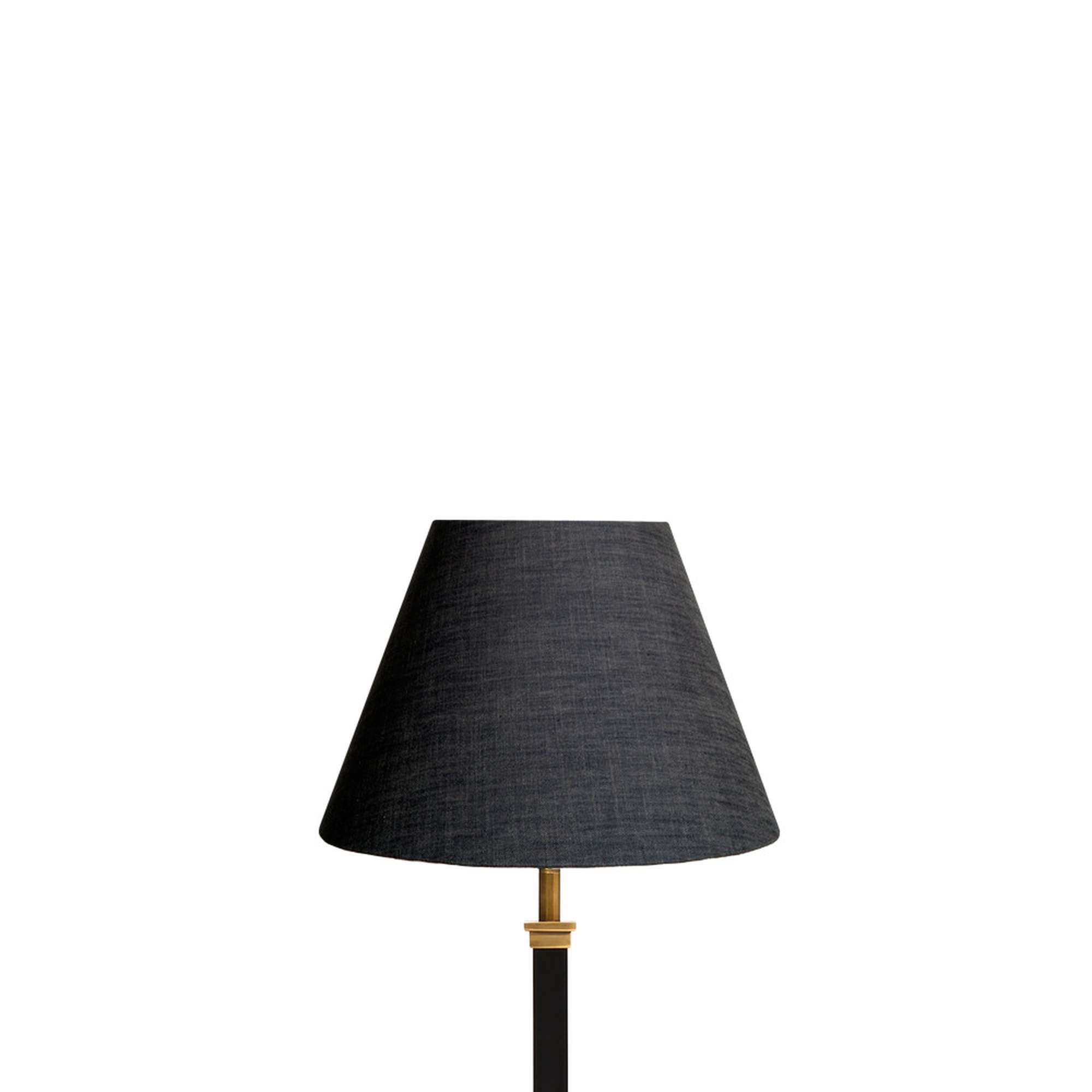 "25cm empire lampshade in charcoal ""chambray"" linen"
