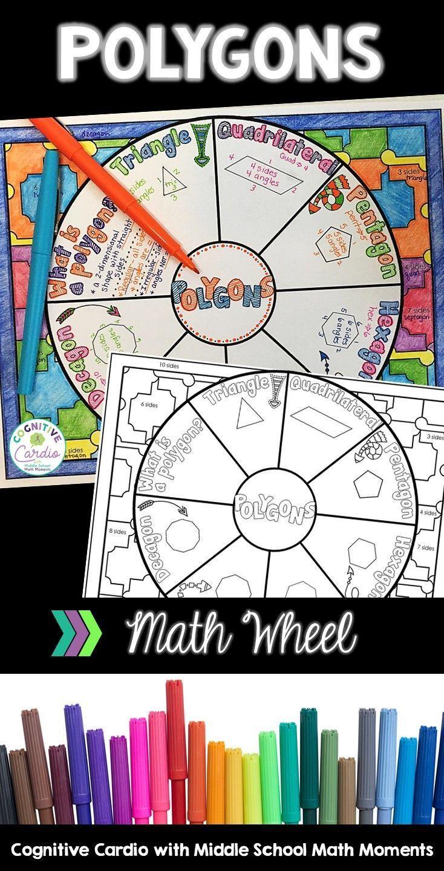 Polygons Math Wheel Math, Math lessons, Teaching math