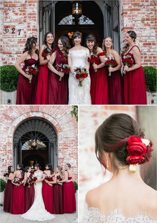 mariage rouge robe demoiselle d 39 honneur rouge accessoire. Black Bedroom Furniture Sets. Home Design Ideas