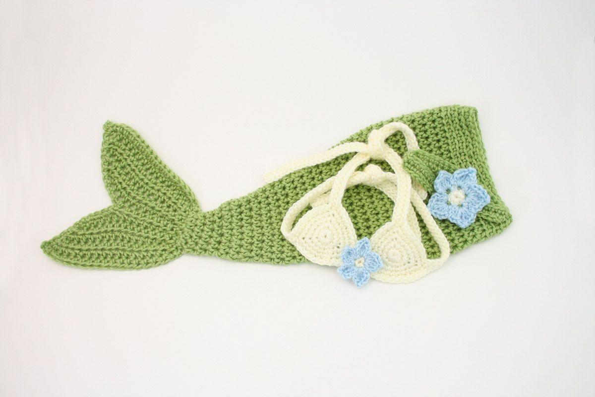 PDF DIGITAL PATTERN:Crochet Baby Mermaid Pattern,Baby Mermaid Outfit ...