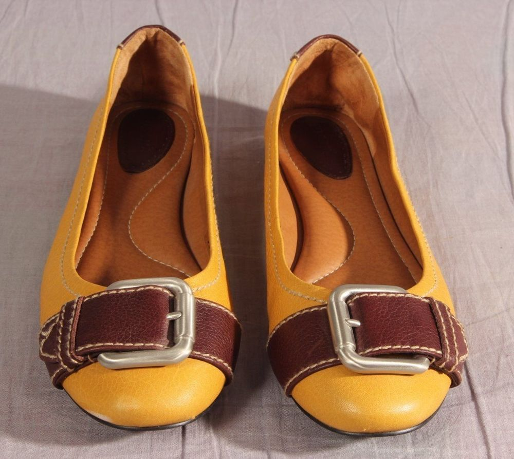 Women's Fossil Ballet Flat Shoes Multi-color Size 11 M Leather Low #Fossil #BalletFlats