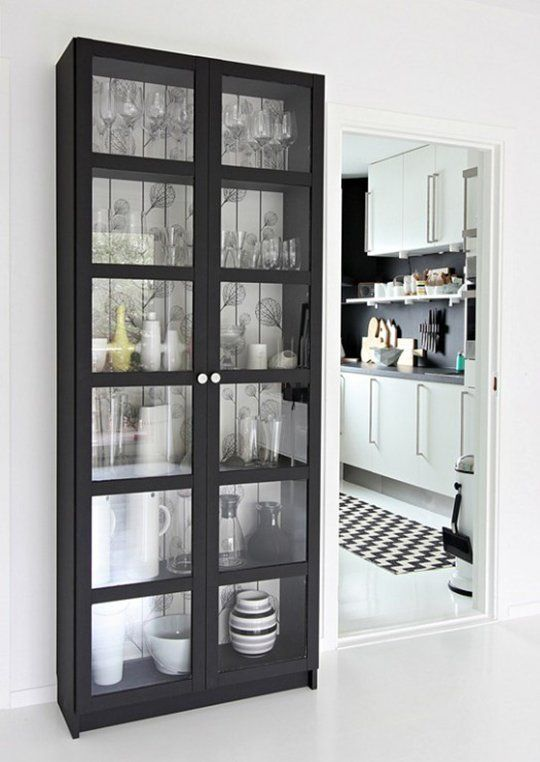 Matte Black In The Kitchen Inspiration Ideas Home Home Decor Bookcase With Glass Doors Black bookcase with glass doors
