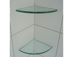 Genial Glass Corner Shower Shelves (for Shampoo, Etc.)