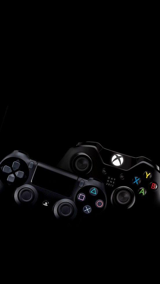 Playstation 4 And Xbox One On Black Papel De Parede Wallpaper Papel De Parede Celular Ideias De Papel De Parede