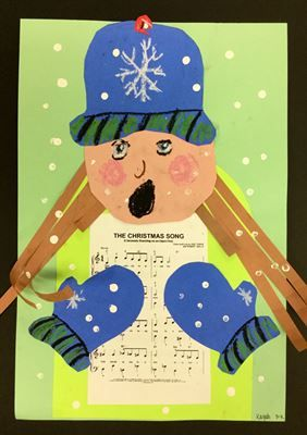 3 Christmas Carolers from New Holstein Elementary School | Art lesson plans, Christmas carol ...