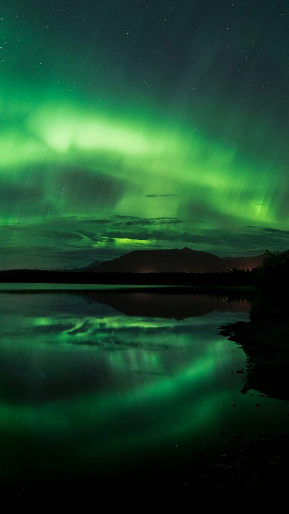 Aurora Borealis Northern Lights Panorama Alaska Goku