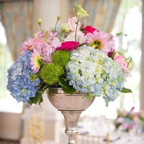 Romantic English Garden Centerpieces