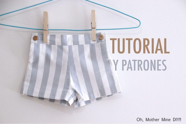 DIY Costura patalón corto para niños (patrones gratis) | roba ...