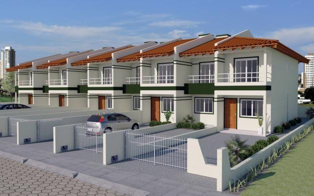 Sobrados duplex em palho a sc arquitetura pr dios for Duplex prefab homes