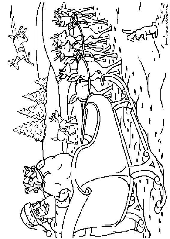 Coloriage Du Traineau Du Pere Noel Colorbook Pinterest