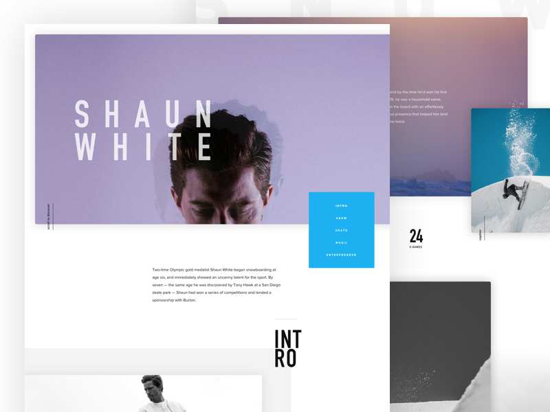 Landing Page Inspiration March 2017 Landing Page Inspiration Shaun White Best Landing Page Design