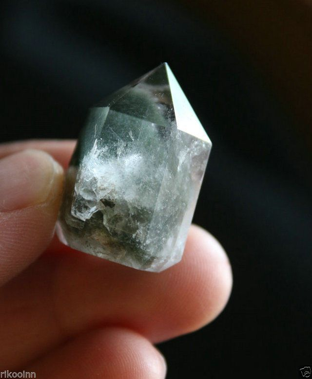 NATURAL Ghost Quartz Cluster Crystal Point Original Specimen-Polished Rough