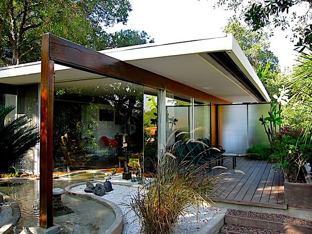 Perkins House, Poppy Peak, Pasadena, Richard Neutra, 1955. Project architect: John Blanton. Photo by Raymond Neutra.