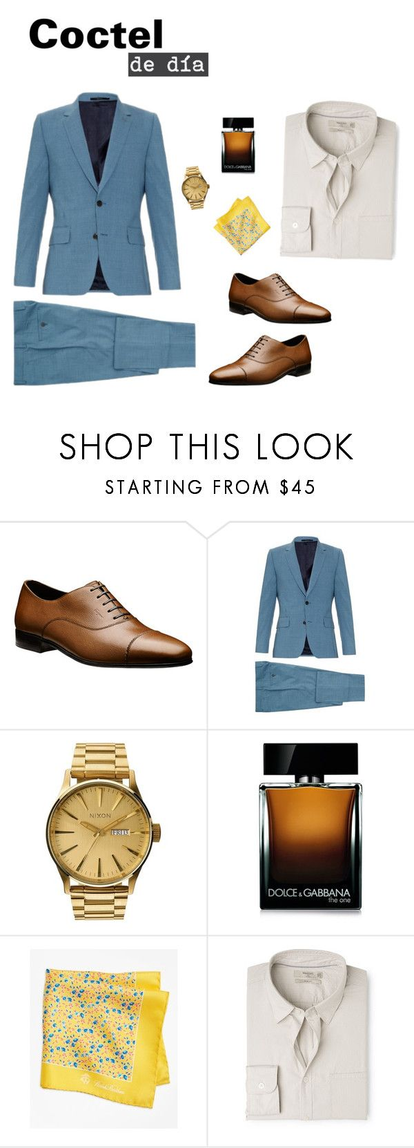 """Coctel de día"" by arimacias on Polyvore featuring Paul Smith, Nixon, Dolce&Gabbana, Brooks Brothers, MANGO MAN, men's fashion, menswear, menstyle, CocktailParty y Firgun"