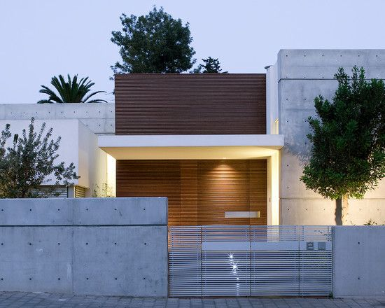 Superb White Grey Wood House   Love The Raw Concrete With White Highlights And Wood.  Clean Nice Design
