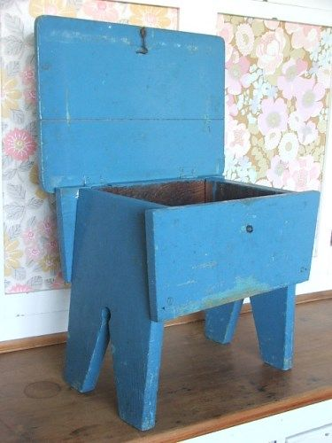 Vintage Painted Wooden Stool In 2019 Little Stools