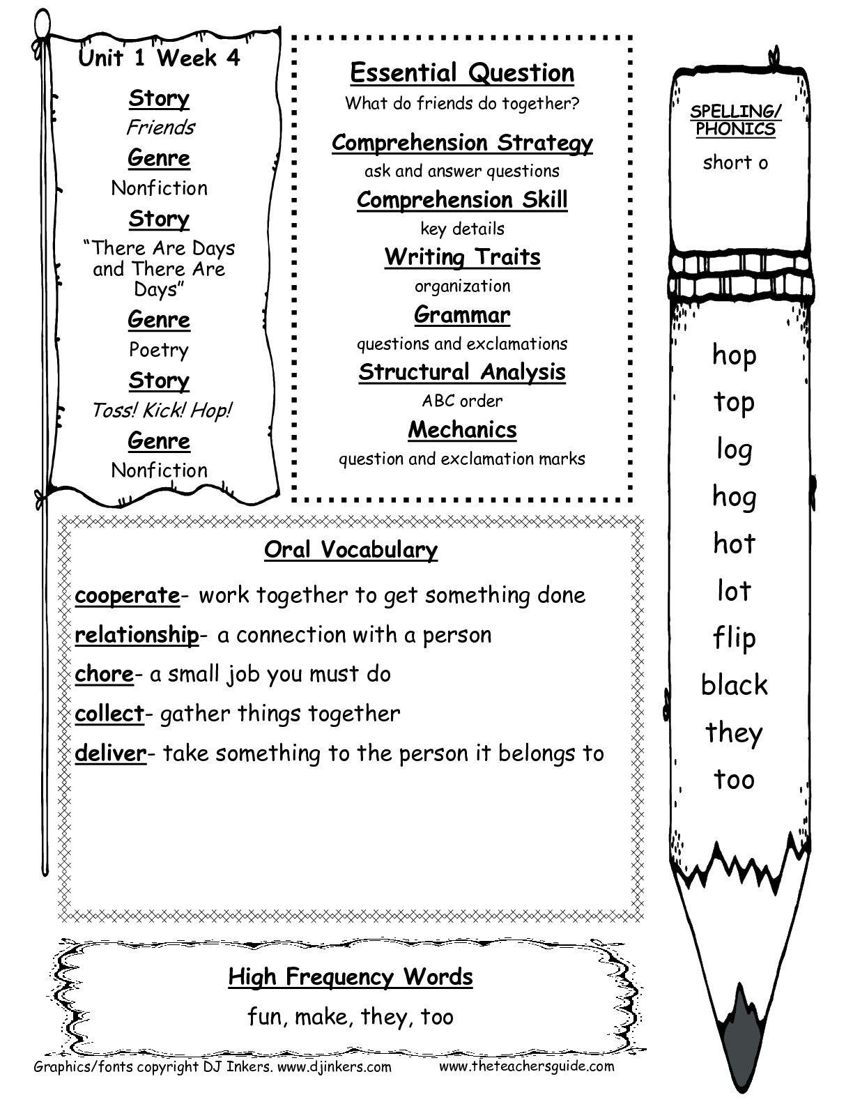 1st Grade Grammar Worksheets For Print 1st Grade Grammar