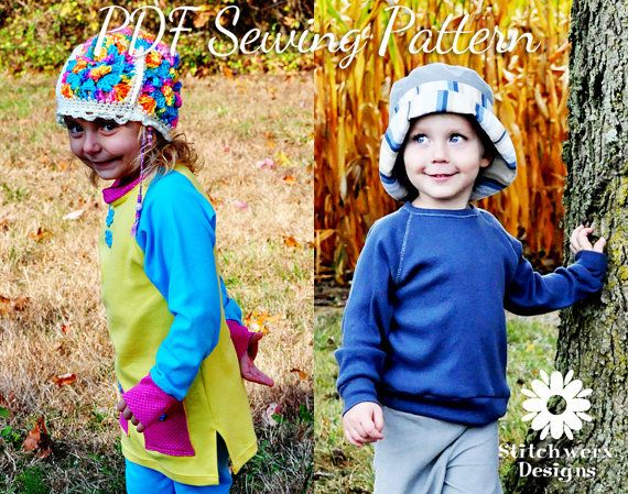 UNISEX Kids Clothes SEWING PATTERN, Childs T Sewing Pattern, Digital ...