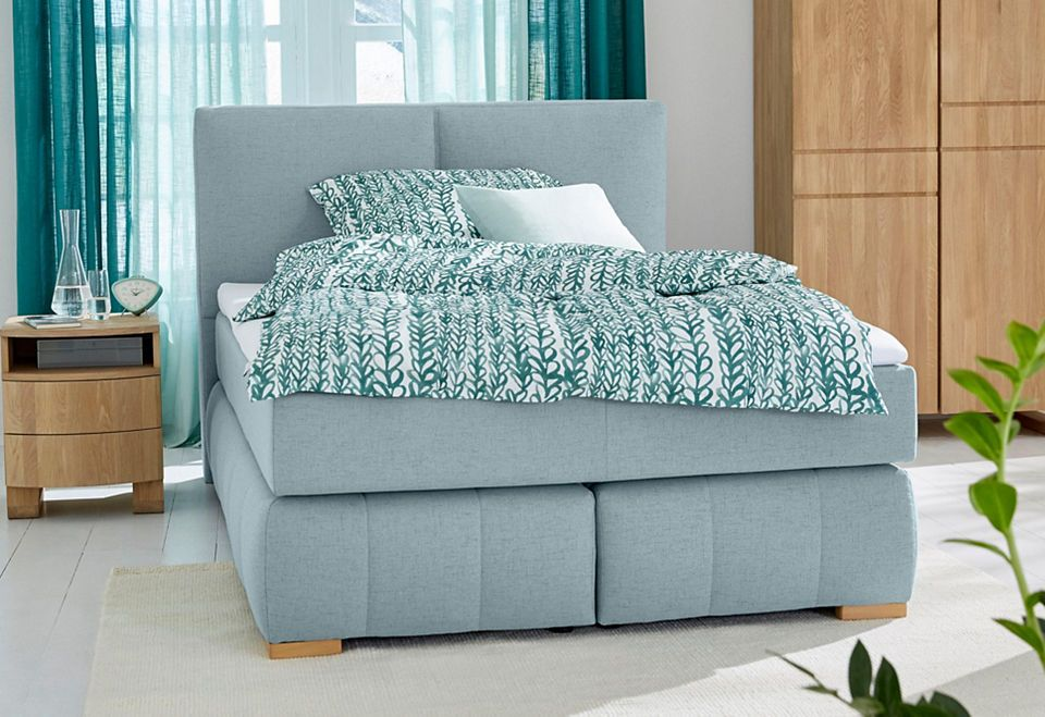 GMK Home  Living Boxspringbett «Wehma», inkl Topper in 3 - schlafzimmer kiefer massiv