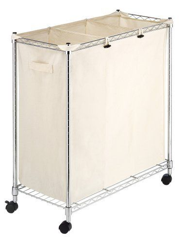 Whitmor 6056 545 Supreme Laundry Sorter Chrome And Canvas By