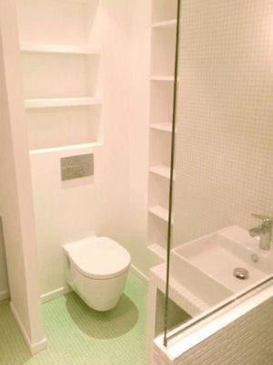 Poser le même carrelage du sol au plafond dans une salle de bains - plafond salle de bain